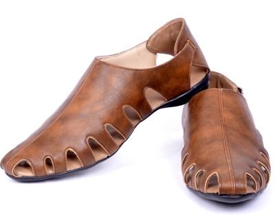 EL Paso Men Beige Sandals