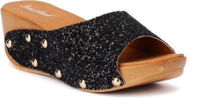 Bruno Manetti 3064 Women Black Wedges