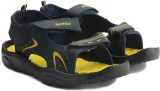 Lotto Men Blue/Yellow Sports Sandals