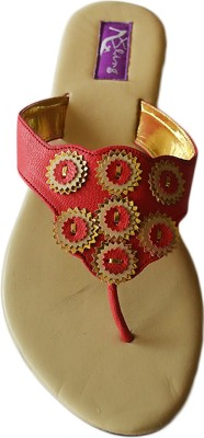 Bling Footwear Women Red Flats