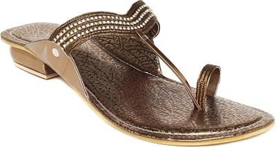 Foot Jewel Low Copper Women Brown Flats