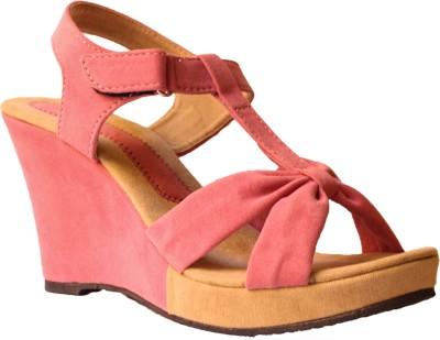 Hansx Women Pink Wedges