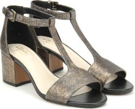 Clarks Women Bronze Metallic Sports Sandals