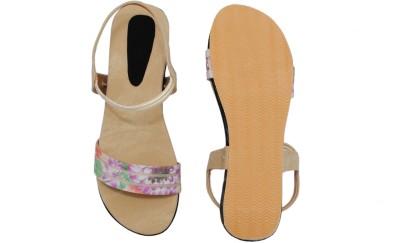 Clever Steps Women Beige Sandals