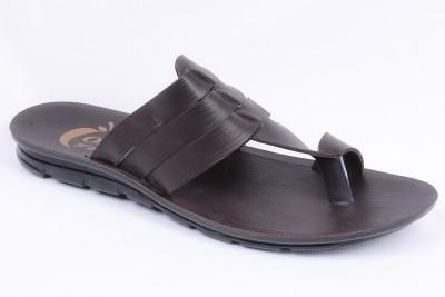 Orange Men Brown Sandals