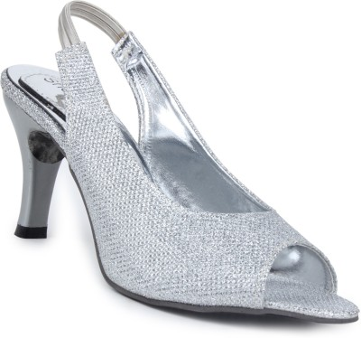 Shoetopia Women Silver Heels