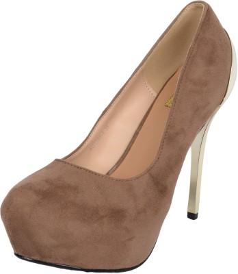 Mucci Mucci Women Khaki Heels