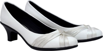Femine Women White Heels