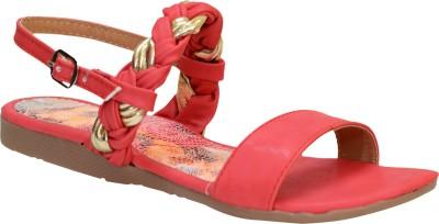 Apick Women Red Flats