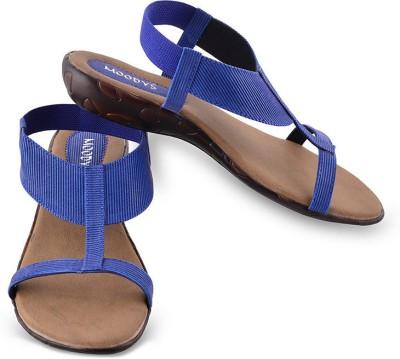 Moodys Women Blue Flats