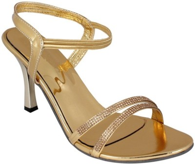 ALA MODE Women Gold Heels