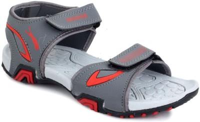 TOUCHWOOD Men Grey, Red Sandals