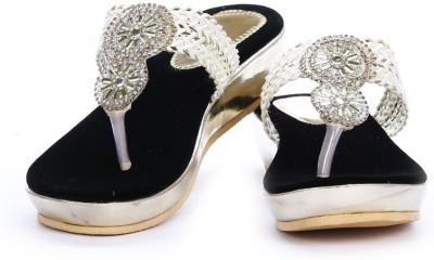 Demyra Women Silver Wedges