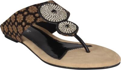 XQZITE Women Black Flats