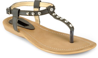 Something Different Women Beige, Black Flats