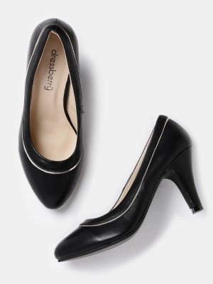 Dressberry Women Black Heels at flipkart