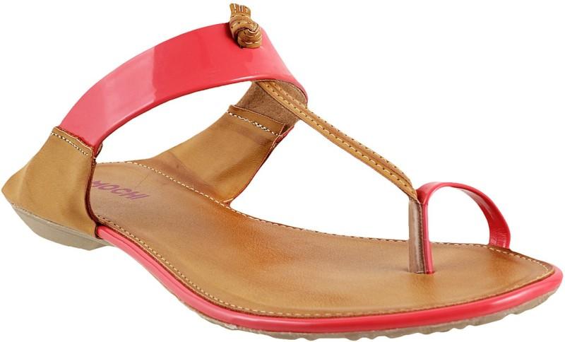 Mochi Women Pink Flats