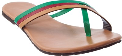 Cws Women Green, Maroon, Brown Flats