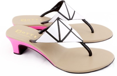 Zotti May Women White, Pink Heels
