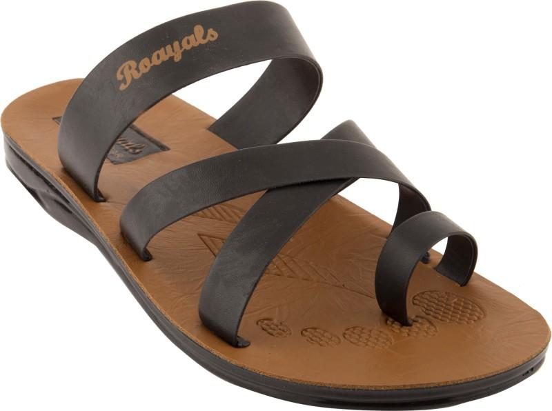 Roayals Men Black::Camel Sandals
