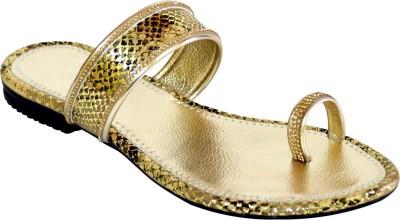 Stepee Women Gold Flats