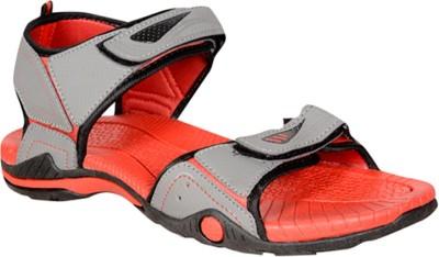Ethics Men Red, Grey Sandals