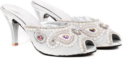 Ka Fashion Girls Silver Sandals