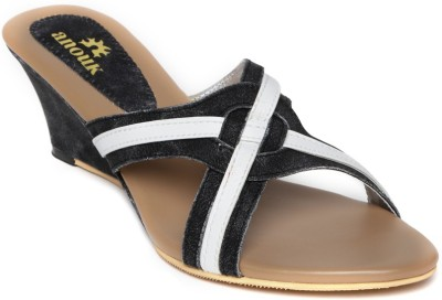 Anouk Women Black Wedges at flipkart