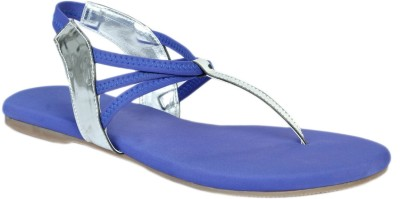 Shoe Bazar Women Blue Flats