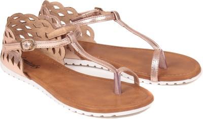 femitaly Women Brown Flats