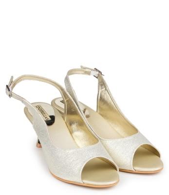 Cinderellas Women Gold Heels