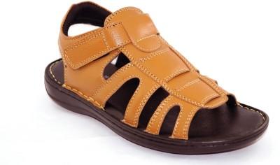 Die Cut Men Tan Sandals