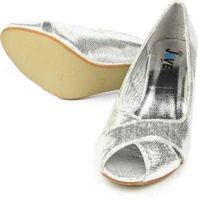 Jove Women Silver Heels