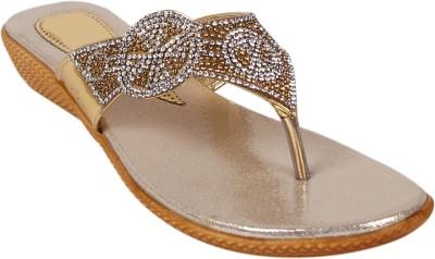 Footshez Women Gold Flats
