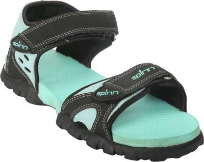 Spinn Women Grey, Green Sports Sandals