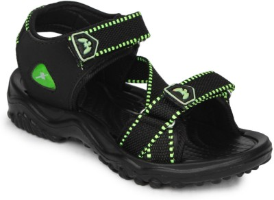 11e Boys Black, Green Sandals