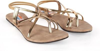 Walk N Style Women Gold Flats