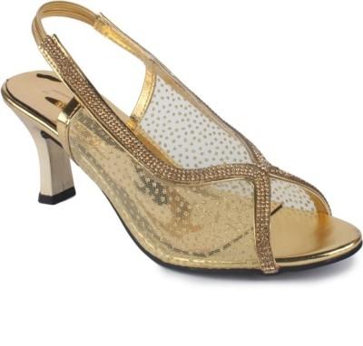 Stepee Women Gold Heels