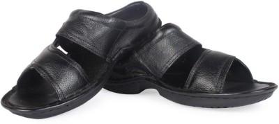 Leather King Men Black Sandals