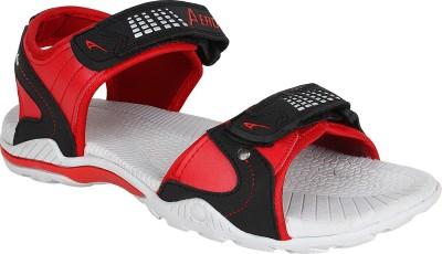 Aero Men Grey, Red, Black Sandals