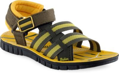 PU-Tiger Boys Yellow Sandals