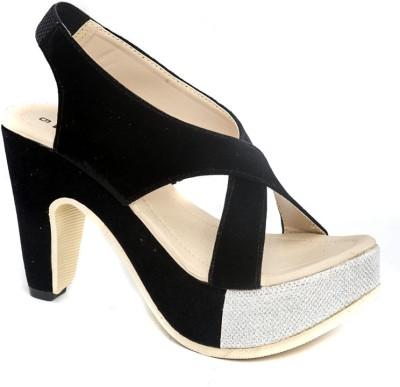 Dolphin Miles Designer High Women Black Heels