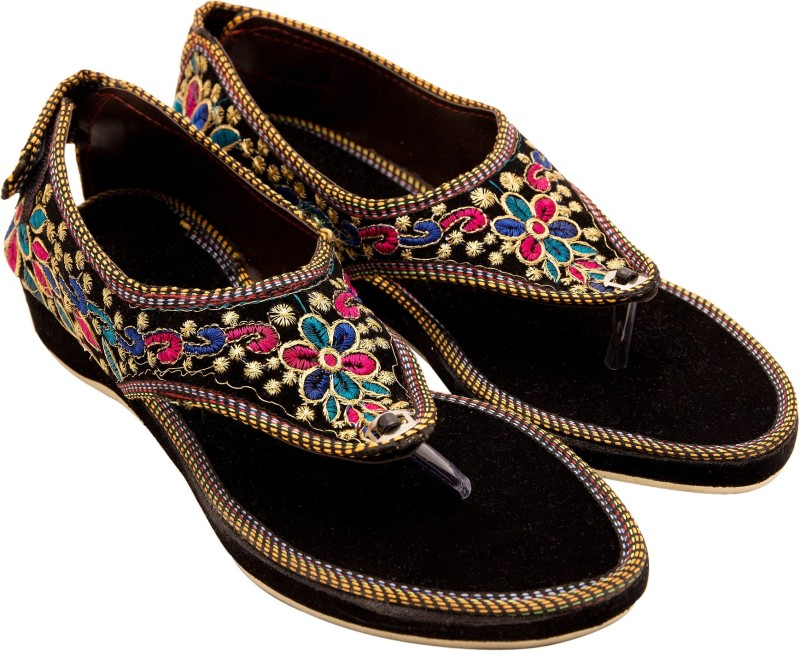 Santosh Art Collection Women Black Flats