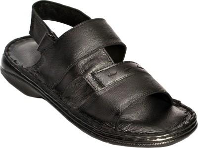 Aadolf Men Black Sandals