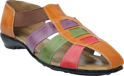 Leatherworld Florish Women Multicolor Flats