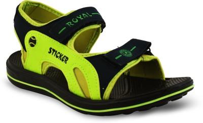 Amvi Men Green, Black Sandals