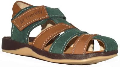 Trendy Enterprises Boys Green, Brown Sandals