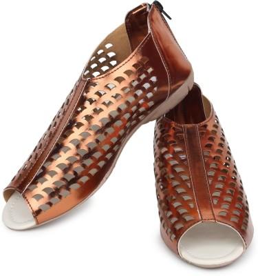 Shoetopia Women Brown Flats