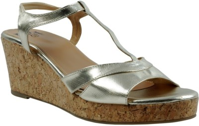 EVE DIOR Women Gold Wedges