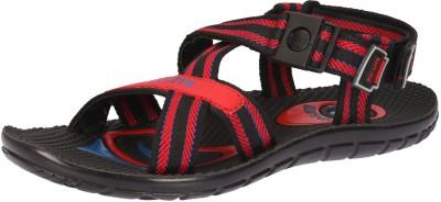 Pu Lite Men Black, Red Sandals